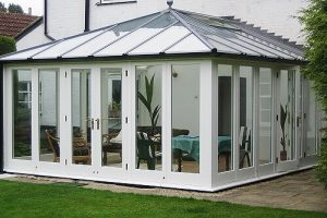 timber Edwardian conservatory