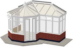 P-shape Victorian Conservatory
