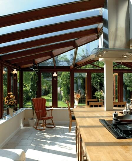 Large conservatories as Kitchens
